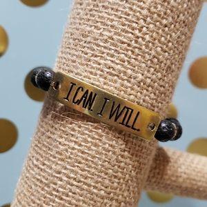 """I can. I will."" Aromatherapy Bracelet"